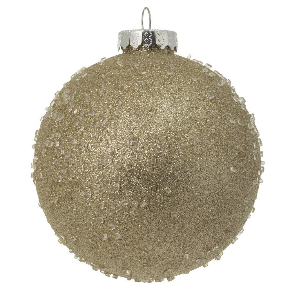 "Image of ""4ct Vickerman 6"""" Ornament Ball Champagne Ice"""