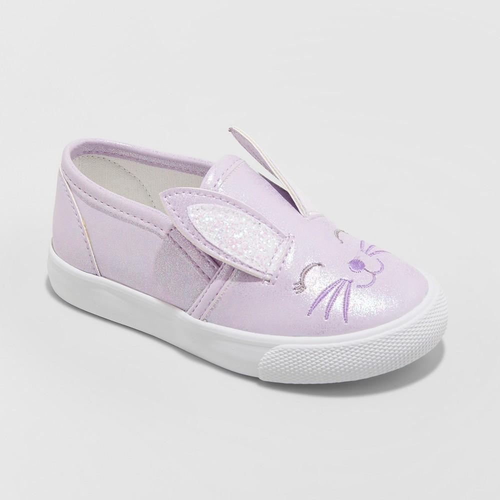 Toddler Girls' Kamara Bunny Sneakers - Cat & Jack Purple 12