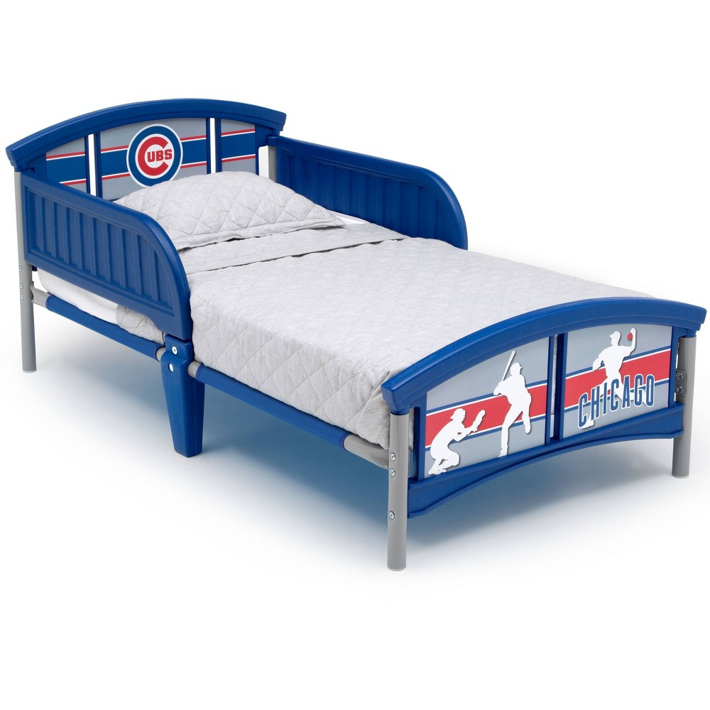 Image of Toddler Chicago Cubs MLB Plastic Bed - Delta Children