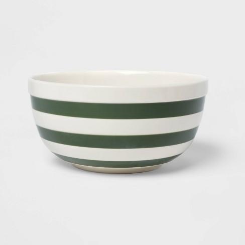 135oz Stoneware Striped Mixing Bowl - Threshold™ - image 1 of 3