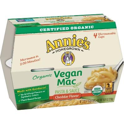Annie's Organic Vegan Microwave Mac & Cheese - 8.04oz/4ct