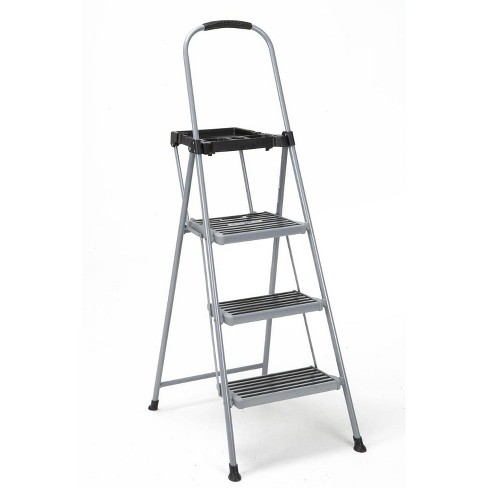 Cosco 3 Step All Steel Step Ladder with Tray - image 1 of 4