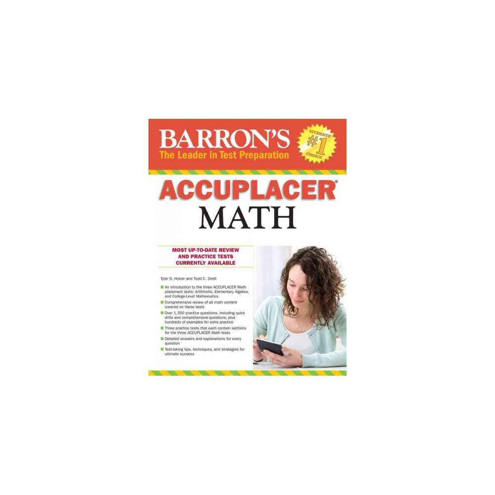 Barron's Accuplacer Math (Paperback) (Tyler S. Holzer & Todd C. Orelli)