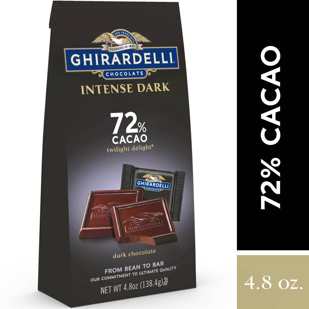 Ghirardelli Intense Dark Twilight Delight 72 Cacao Chocolate Squares 4 8oz