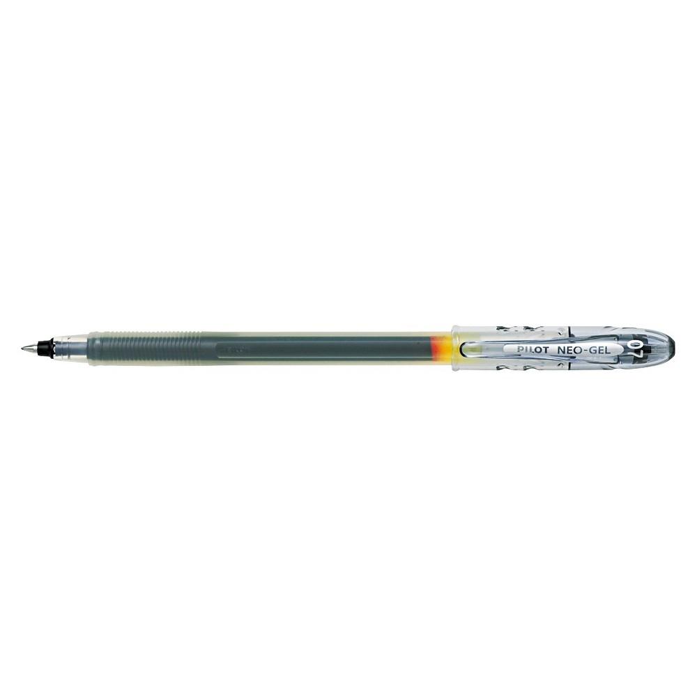 Pilot Neo-Gel Roller Ball Stick Pen, Black Ink, .7mm, Dozen