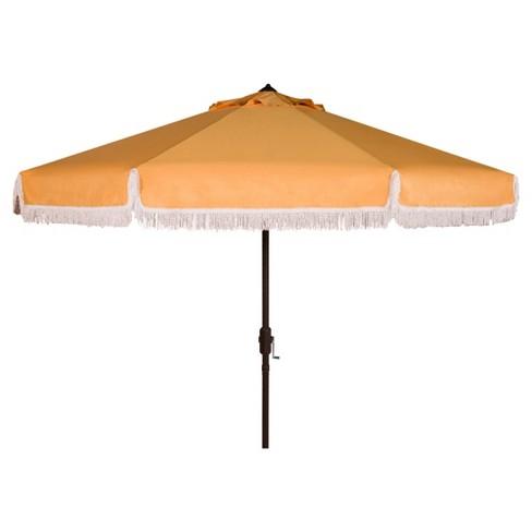 Milan 9' Auto Tilt Crank Umbrella - Safavieh - image 1 of 3