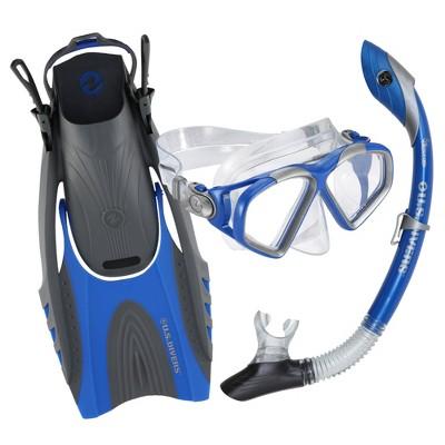 Mask /& Fins S//m Plastic//rubber Purple//gray//clear U.s Divers Women Snorkel