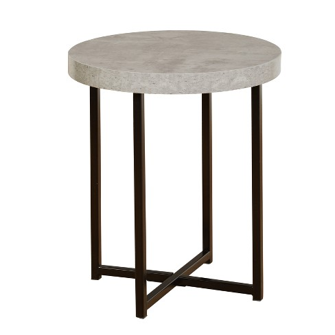 Era End Table - Gray/Black  - Buylateral - image 1 of 3