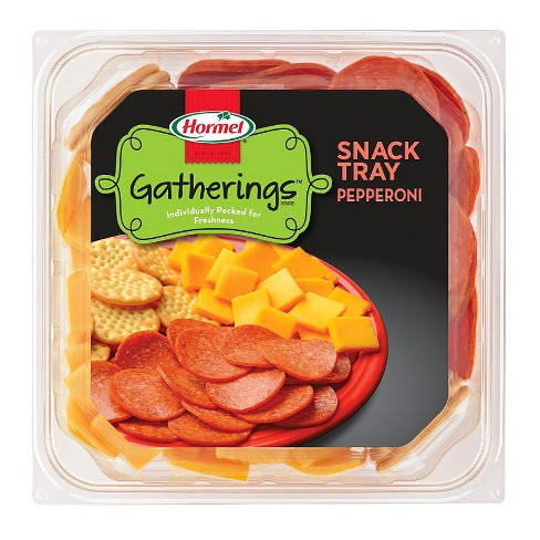 Hormel Gatherings Pepperoni, Cheddar Cheese & Crackers Snack Tray - 14oz - image 1 of 3