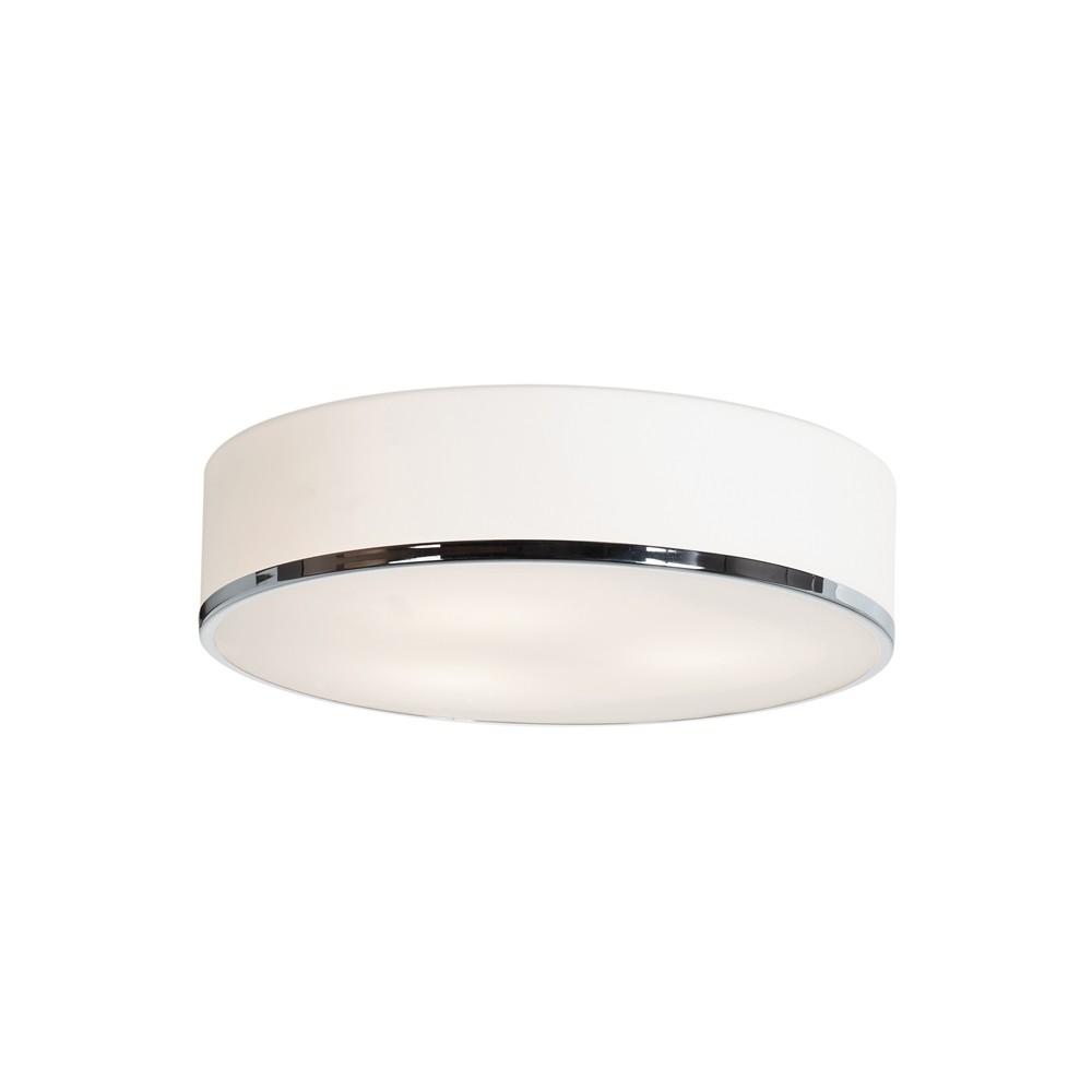 Image of Access Lighting 16 Aero 3 Light Flush Mount Chrome Finish Opal Glass Shade Ceiling Lights Silver