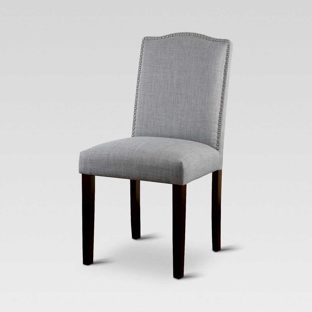 Camelot Nailhead Dining Chair - Dove Gray (1 Pack) - Threshold