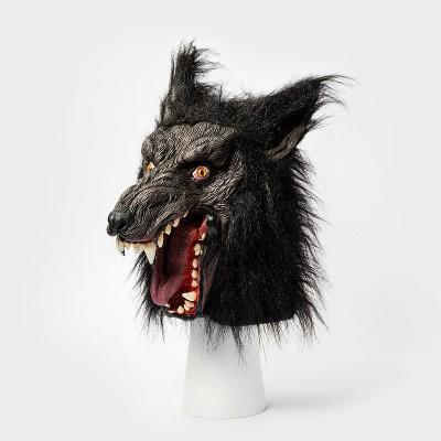 Adult Deluxe Black Wolf Halloween Mask - Hyde & EEK! Boutique™