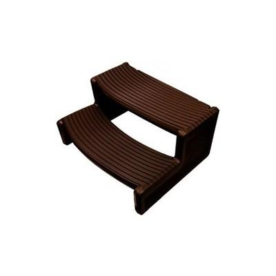Confer Plastics Resin Multi Purpose Outdoor Non Slip Portable Spa and Hot Tub Handi-Step Deck Patio Steps Accessories, Espresso