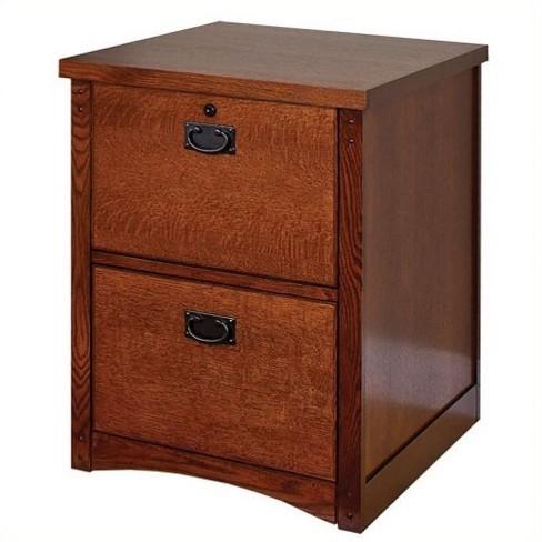 Wood Mission Pasadena 2 Drawer File Cabinet In Brown Martin Furniture