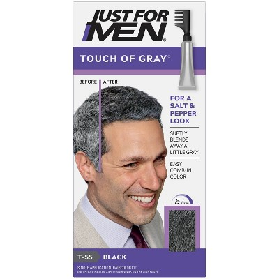 Just For Men Touch of Gray, Gray Hair Coloring for Men's with Comb Applicator Great for a Salt and Pepper Look