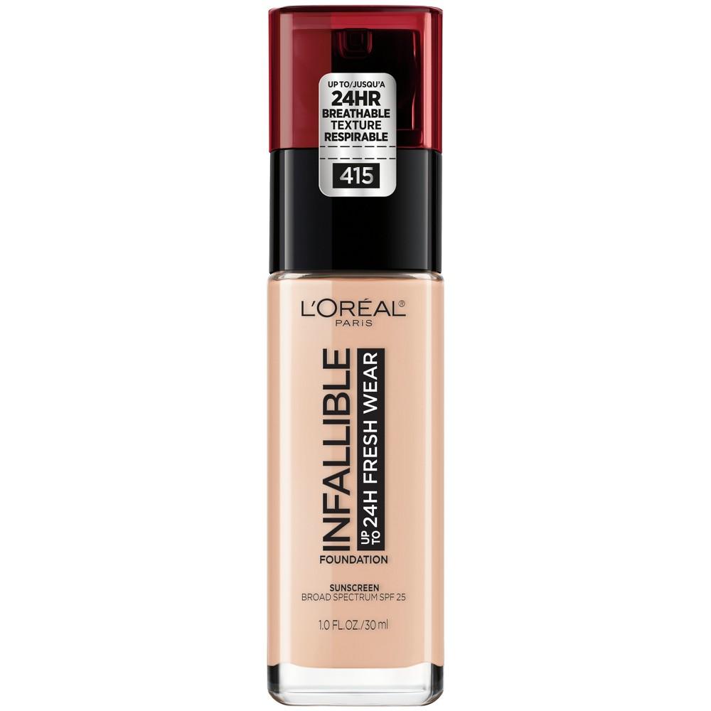 Image of Infallible 24HR Fresh Wear Foundation 415 Rose Ivory - 0.17 fl oz, Pink Ivory 415