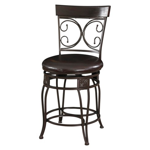24 Nora Big Tall Scroll Back Counter Stool Powell Company Target