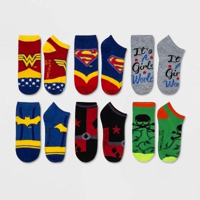 Women's DC Comics 6pk Low Cut Socks - Assorted Colors 4-10
