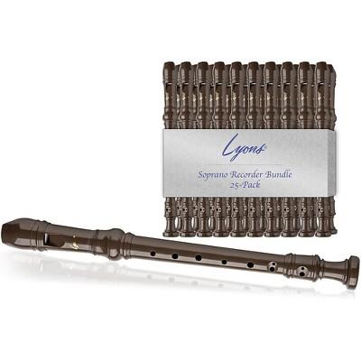 Lyons SOPRANO RECORDER VALU BNDL 25PK Brown