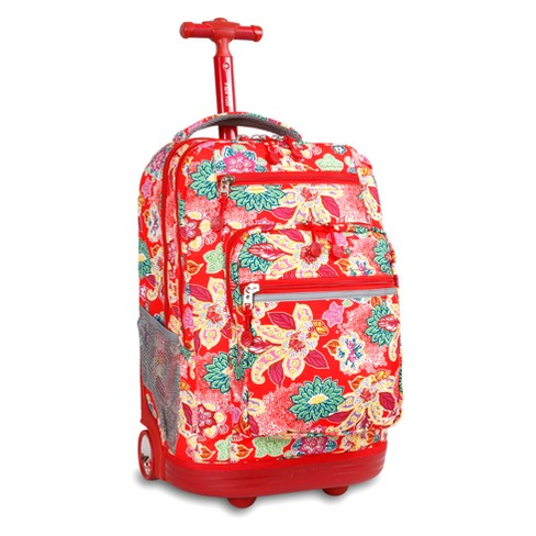 "J World 20"" Sundance Laptop Rolling Backpack - Passion - image 1 of 2"