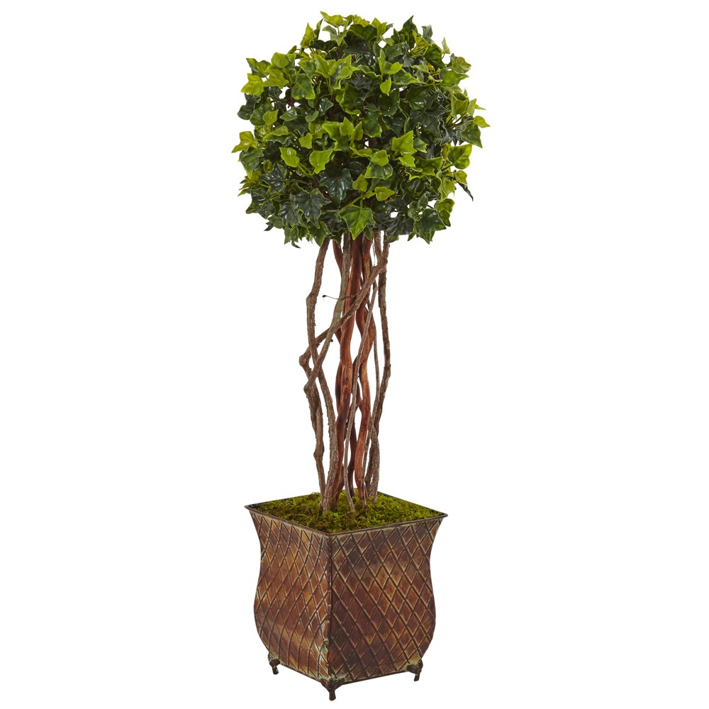 Image of 1ft English Ivy Artificial Tree In Planter - Nearly Natural, Green
