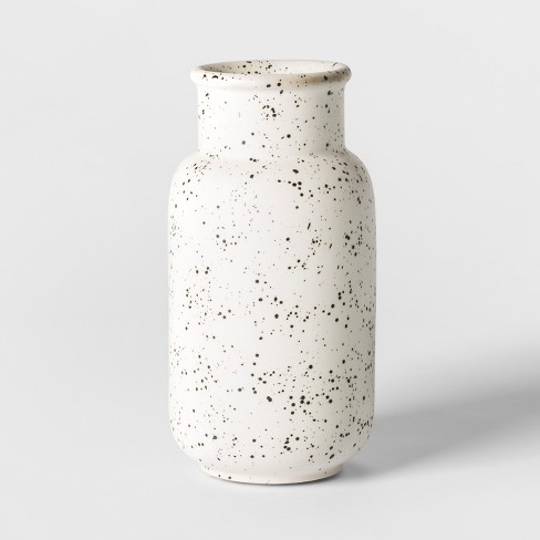 Vase Watering Can Speckled Glaze - White - Threshold™ - image 1 of 7