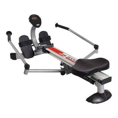 Stamina BodyTrac Glider Full Body Cardio Exercise Fitness Rower Stationary Rowing Machine with Molded Seat, Padded Hand Grips, and Workout Monitor