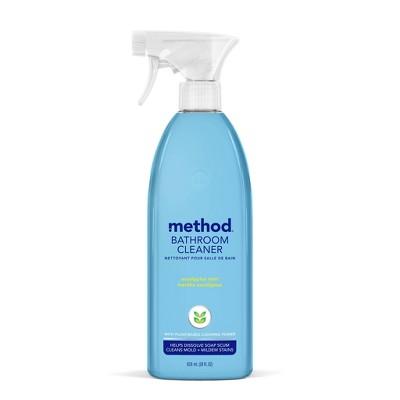 Method Cleaning Products Bathroom Cleaner Tub + Tile Eucalyptus Mint Spray Bottle 28 fl oz