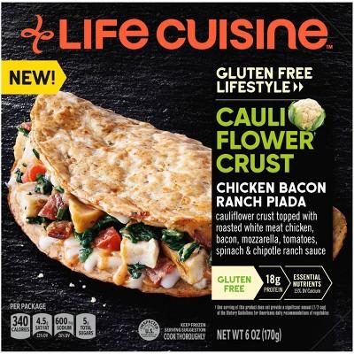 Life Cuisine Gluten Free Frozen Chicken Bacon Ranch Piada - 6oz