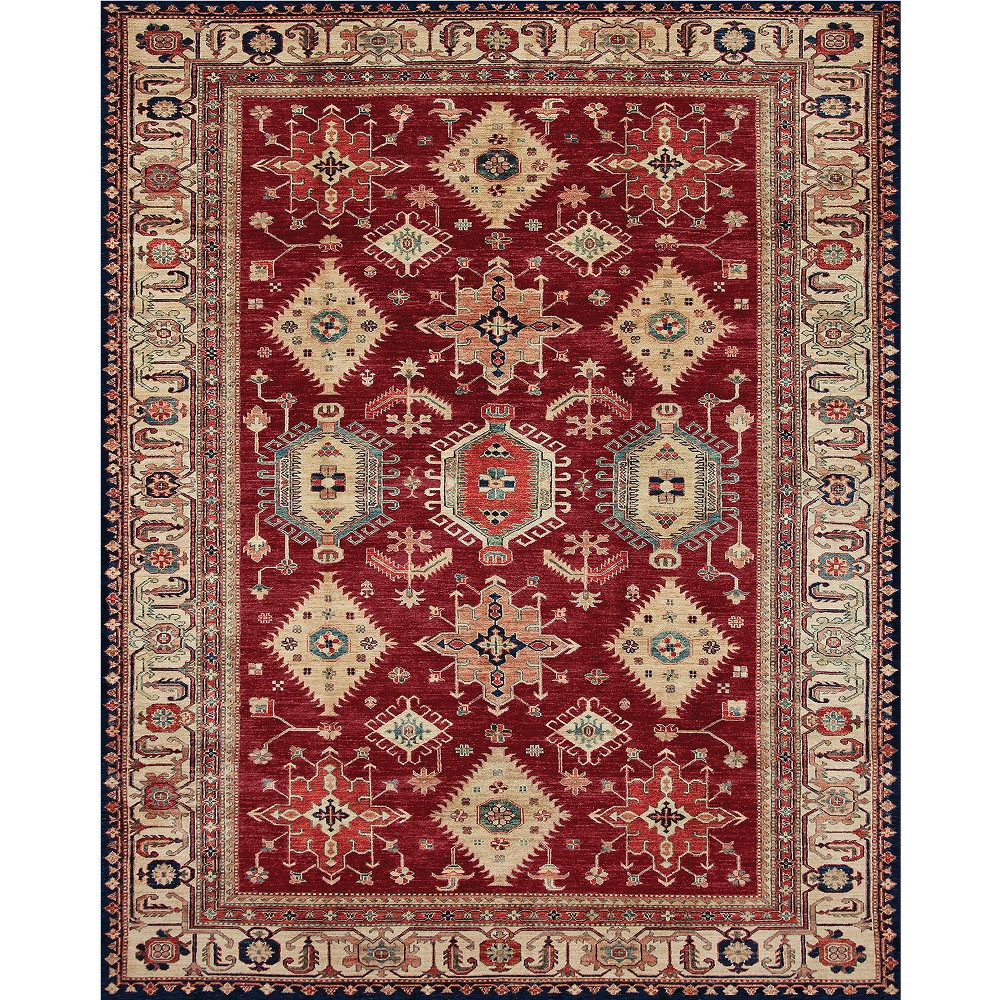 Ruby (Red) Diamond Woven Area Rug 8'X10' - Ruggable