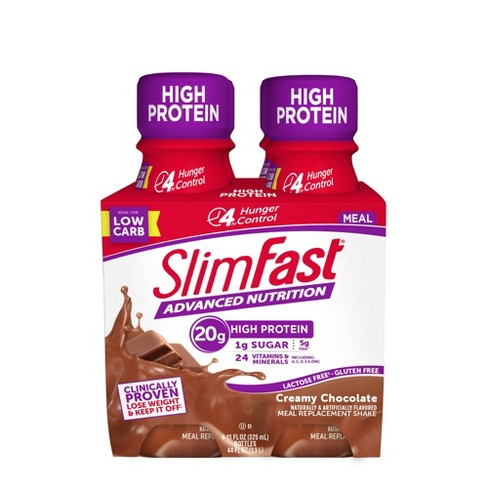 SlimFast Advanced Nutrition High Protein Meal Replacement Shakes - Creamy Chocolate   - image 1 of 4