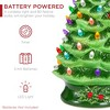 Best Choice Products 24in X-Large Pre-Lit Ceramic Christmas Tree Battery-Powered Decoration w/ LED Light, Timer - Green - image 4 of 4