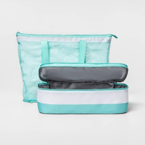 7f8aaf28d6e6 2-In-1 Cooler Tote With Mesh Teal - Sun Squad™