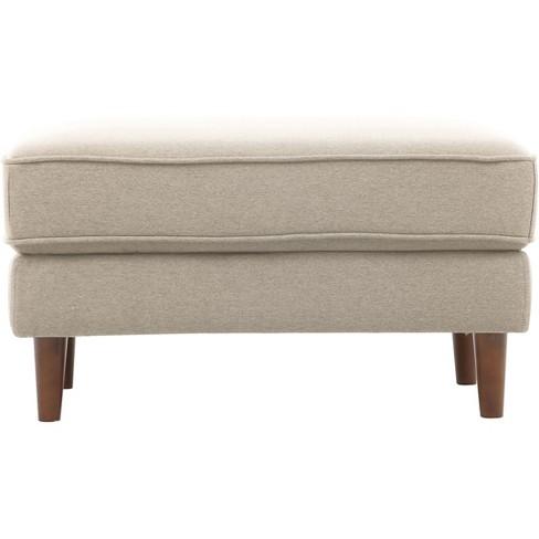 Strange Tracie Mid Century Modern Ottoman Taupe Lifestyle Solutions Unemploymentrelief Wooden Chair Designs For Living Room Unemploymentrelieforg
