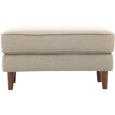 Tracie Mid Century Modern Ottoman Taupe   Lifestyle Solutions