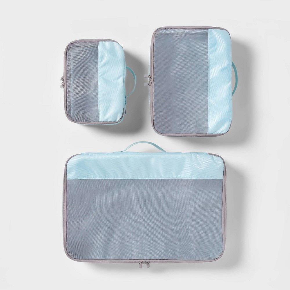 Image of 3pc Packing Cube Set Light Blue - Made By Design