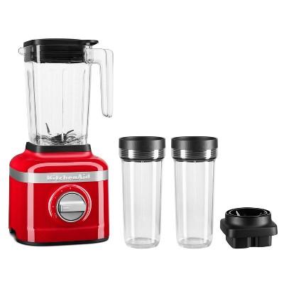 KitchenAid 3-Speed Blender with 2 Personal Blender Jars - Red