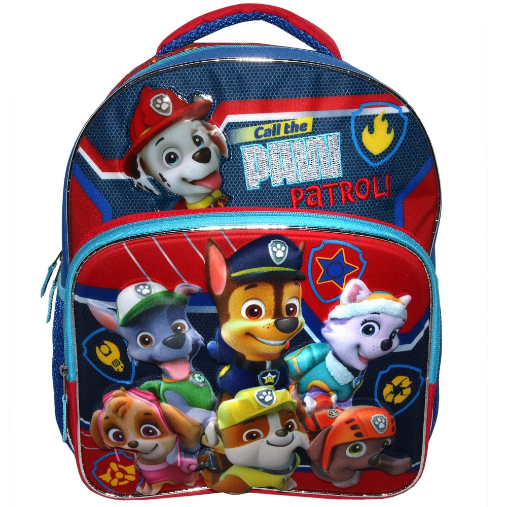 "Image of ""PAW Patrol 14"""" Call PAW Patrol Kids' Backpack - Red, Boy's, Size: Small, Yellow Red Blue"""