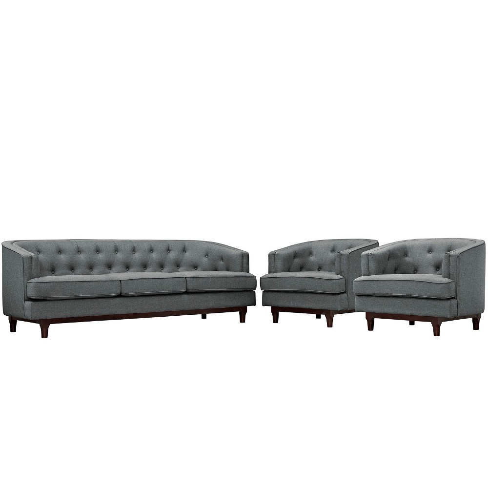 Set of 3 Coast Living Room Set Modway