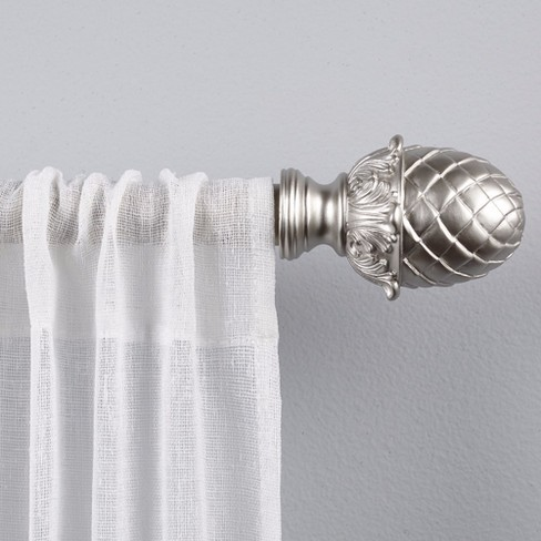 "Acorn 1"" Curtain Rod and Coordinating Finial Set - Exclusive Home - image 1 of 5"