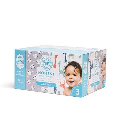 The Honest Company Disposable Diapers Super Club Box Pandas & Giraffes - Size 3 - 136ct