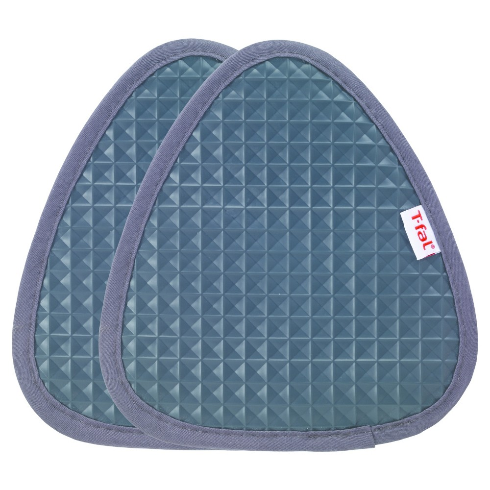 "Image of ""2pk Gray Waffle Silicone Pot Holder (7.5""""x8.25"""") - T-Fal"""