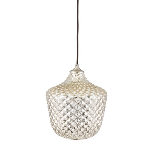 Alexandria Rounded Pendant Silver (Lamp Only) - image 1 of 4