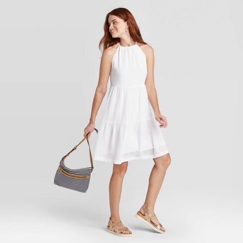 Women's Sleeveless Tiered Dress - A New Day™ - image 1 of 3