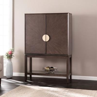 Becry Double Door Storage Cabinet Gray - Aiden Lane