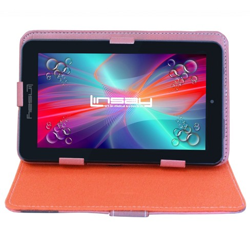 """LINSAY 7"""" HD Quad Core Tablet with York Style Leather Case 16GB - image 1 of 4"""