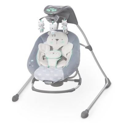Ingenuity In Lighten Cradling Swing & Rocker - Twinkle Twinkle Teddy Bear