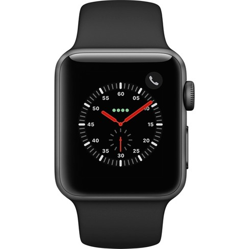 competitive price 13d05 62933 Apple Watch Series 3 GPS & Cellular 42mm Space Gray Aluminum Case with  Sport Band - Black