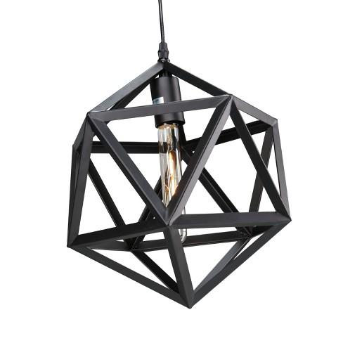 Lugh Geometric Cage Pendant Lamp - Matte Black - Aiden Lane - image 1 of 4