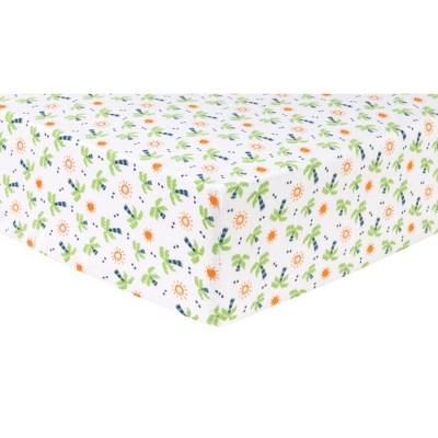 Trend Lab Deluxe Flannel Crib Sheet - Palm Tree